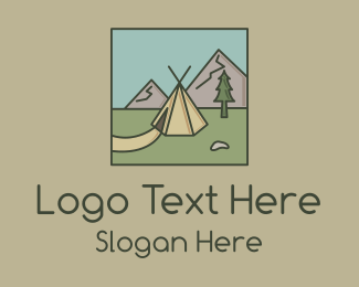 Explore - Teepee Outdoor Camping logo design