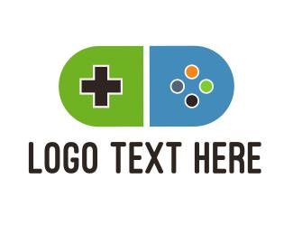 Video Game - Pill Gaming logo design