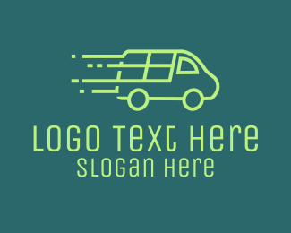 Pickup - Green Cargo Van logo design