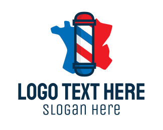French - French Barbershop logo design