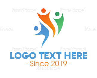 Parenting - Abstract Healthy Community logo design