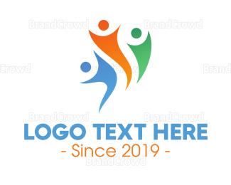 Community - Abstract Healthy Community logo design