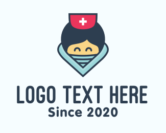 Joyful - Female Hospital Nurse logo design