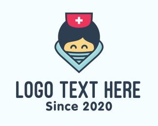 Nurse - Female Hospital Nurse logo design