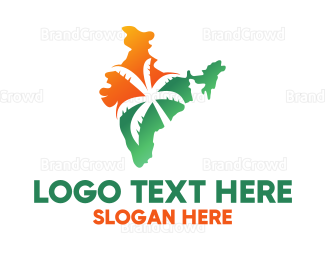 India - Tropical India logo design