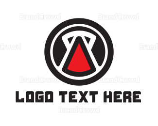 Red And Black - Red Kettlebell logo design