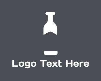 Milk - White Bottle  logo design