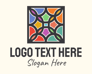 Class - Stained Glass Art Square logo design