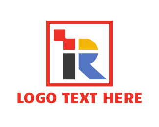 Furniture Store - Colorful Square R logo design