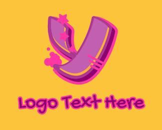 Record Producer - Graffiti Star Letter Y logo design