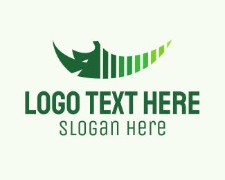 Rhinoceros - Green Rhino logo design
