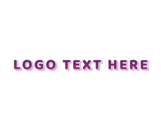 Learning Center - Cute Purple Gradient logo design