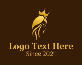 Queen - Golden Royal Queen logo design
