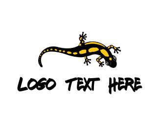 Salamander - Black Lizard logo design
