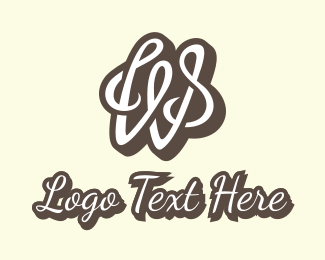 Lettering - Cursive Letter W logo design
