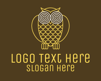 Forest Animal - Hypnotic Owl Eye logo design