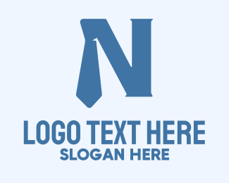 """""""Blue Tie Letter N"""" by MusiqueDesign"""