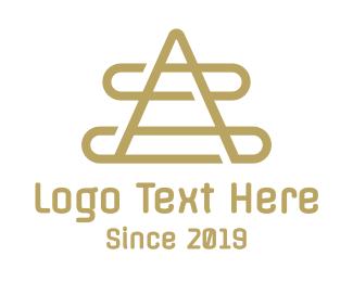Geometric A Outline Logo