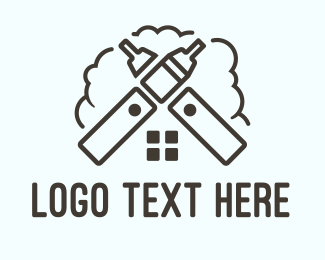 Weed - Vape House logo design