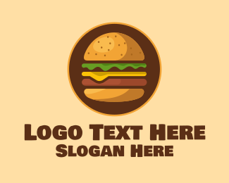 Food Vlogger - Burger Hamburger logo design