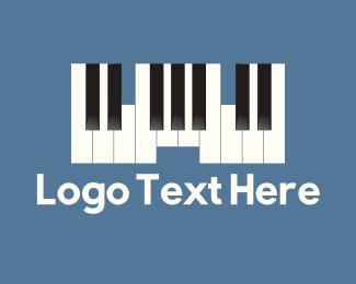 Orchestra - Piano Castle logo design