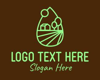 Lawn Mowing - Green Barn Farm logo design