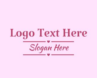 Text - Love Banner Text logo design