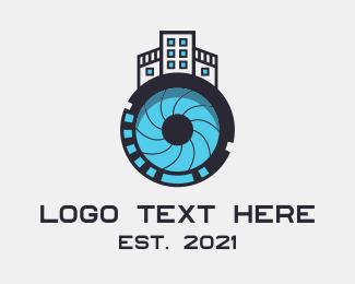 Camera Parts - City Lens Studio logo design