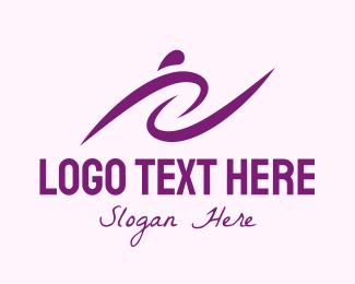 Life Coach - Purple Women's Training logo design