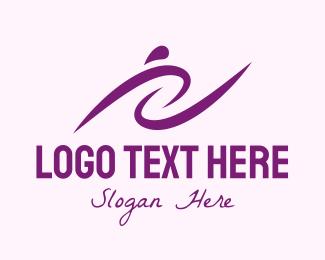 Training - Purple Women's Training logo design