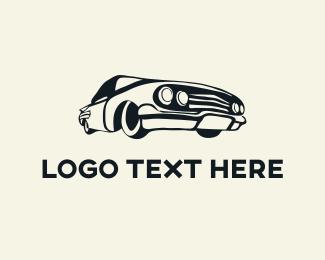 Auto Shop - Vintage Car logo design
