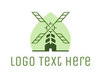 Windmill - Organic Windmill logo design