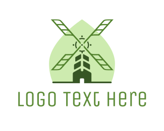 Recycle - Organic Windmill logo design
