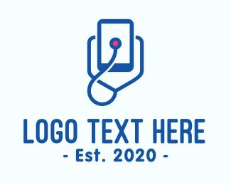 Medic - Medical Mobile Stethoscope logo design
