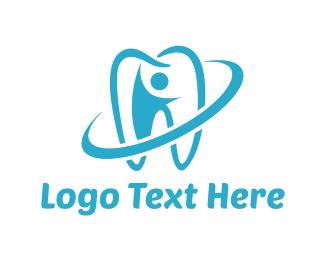 Orthodontist - Blue Tooth logo design