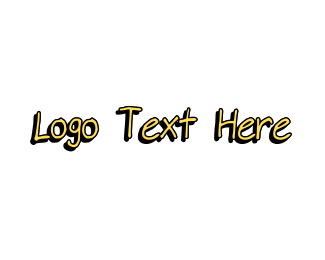 Scrapbook - Yellow Handwritten Font logo design