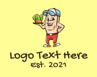 Trucker Cap - Sandwich Bun Mascot  logo design