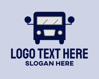 Transport - Vintage Bus Transport logo design