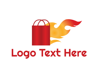 Shopping Bag - Hot Shop logo design