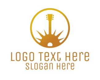 Morning - Gold Guitar Morning logo design