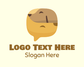 Pet Grooming - Brown Pet Chat logo design