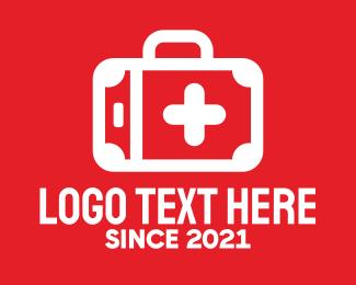 Injury - Emergency First Aid Kit logo design