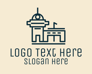 Architecture - Simple Airport Building logo design