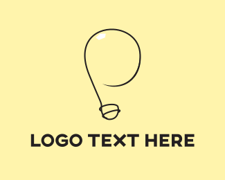 Filament - Yellow Light Bulb  logo design