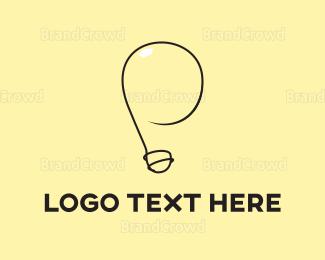 Filament - Yellow Light Bulb  logo design