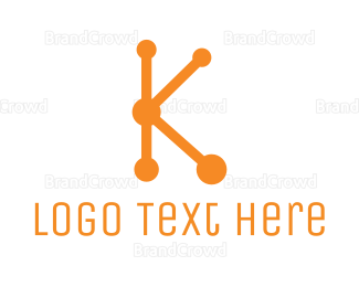 Communicate - Connect Letter K logo design