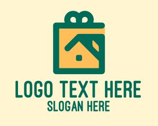 Gift - House Gift  logo design