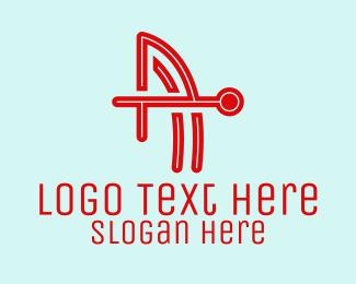 Letter A - Modern Letter A Circuit logo design