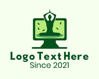 Online Learning - Online Yoga Fitness Class logo design