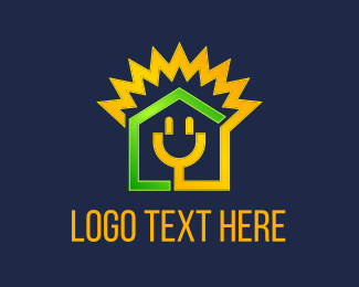 Plug In - Electricity House logo design